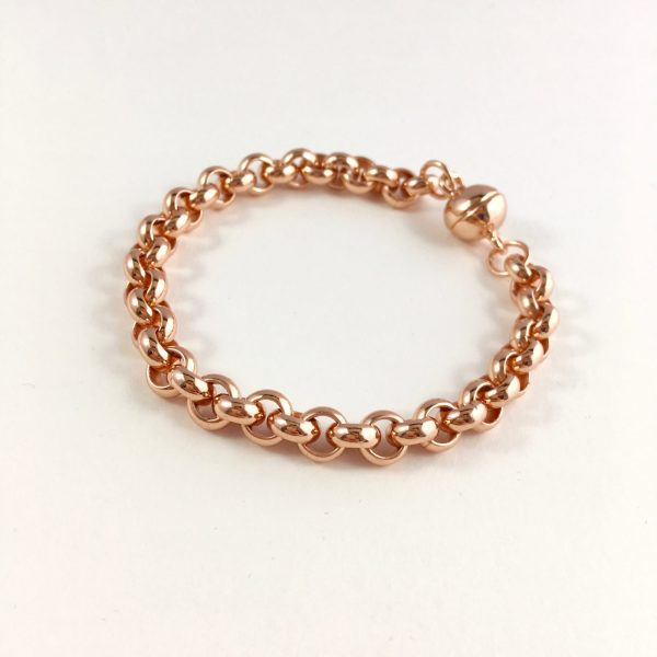 statement armband rose goud