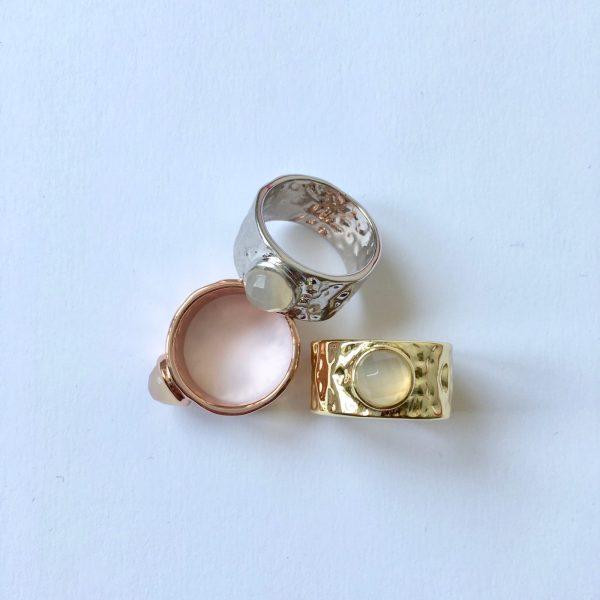 statement ringen met edelsteen natuursteen