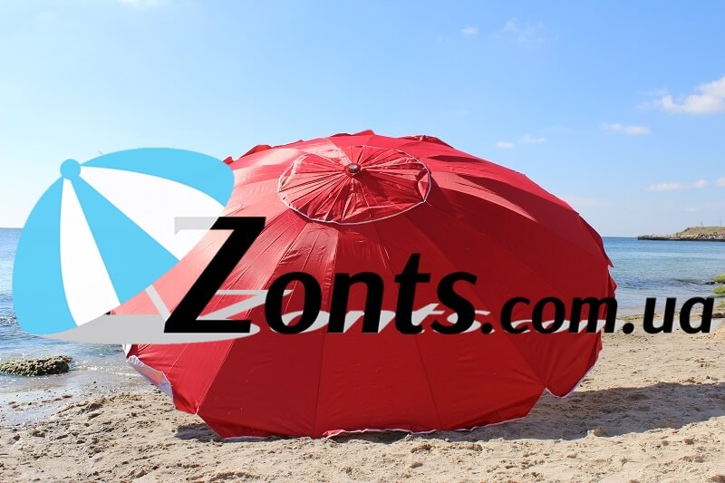 Купить садовый зонт большой для торговли или кафе 3 метра 16 спиц