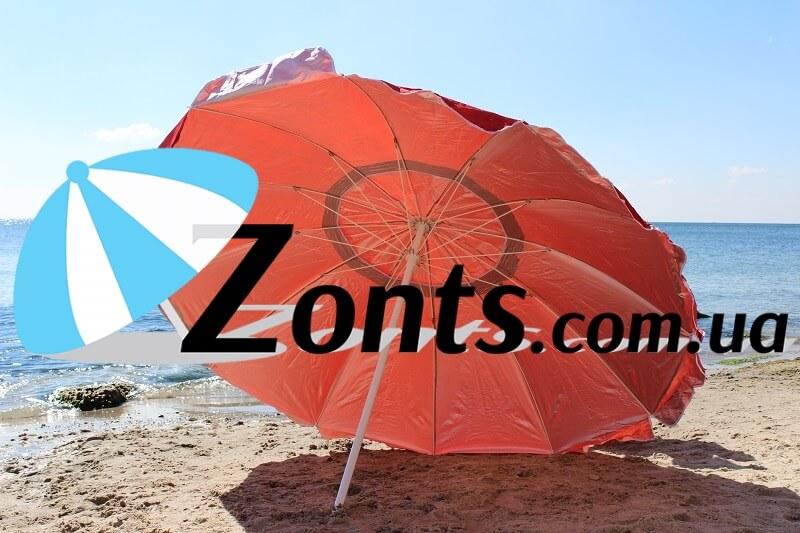 Зонт садовый Зонт для торговли 2.5 метра большой 12 спиц прочный плотный зонт