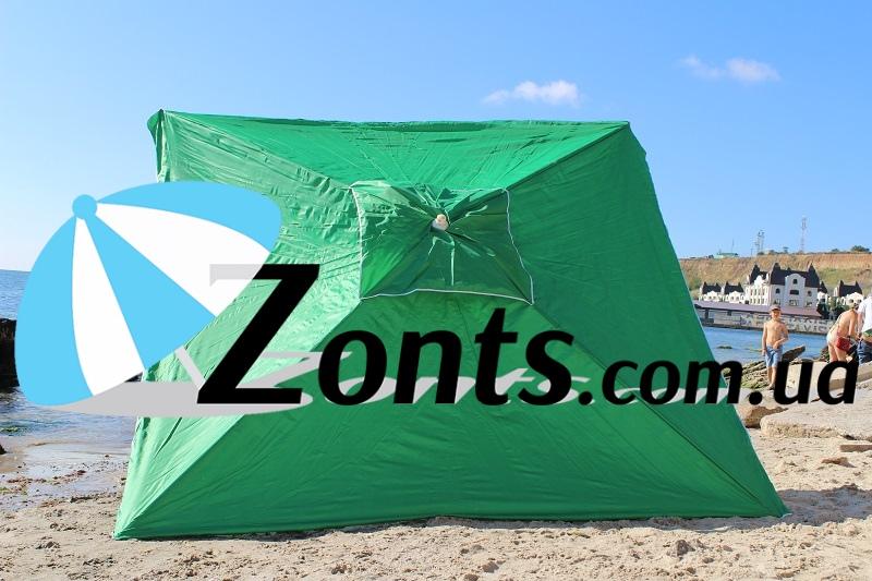 Зонт зеленый торговый садовый купить для торговли сада