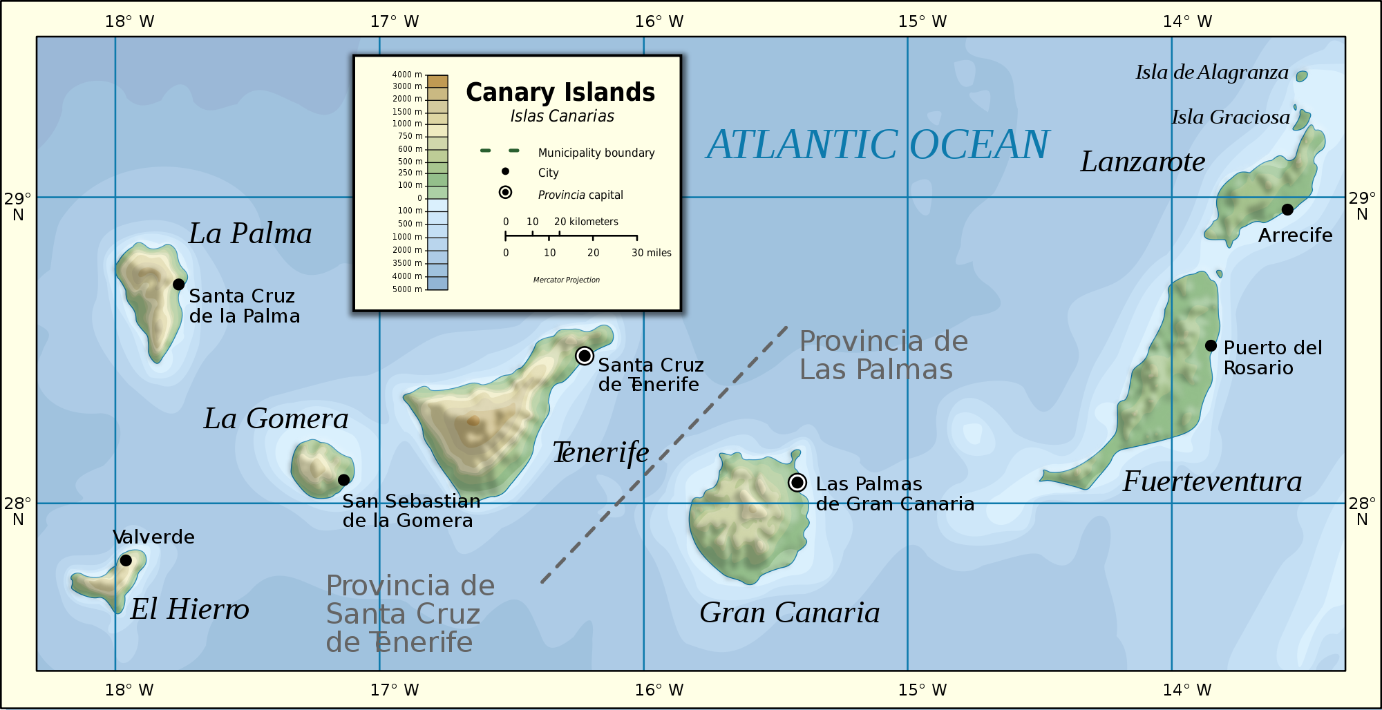 Image result for islas canarias mapa