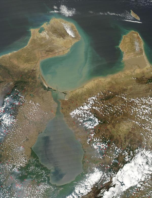 Satellite Image, Photo, Gulf of Venezuela, Venezuela