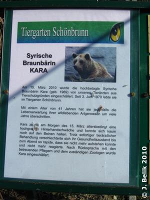 Info-Tafel bei Karas Gehege, 18. März 2010