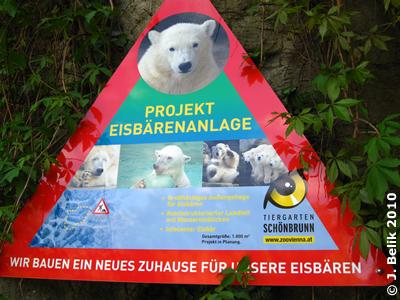 Infotafel für neue Eisbäranlage, 6. Mai 2010
