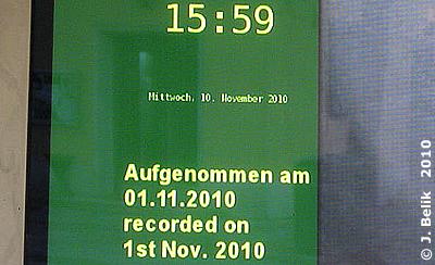 """Dieses Video ist beim besten Willen nicht mehr """"aktuell"""", 10. November 2010"""