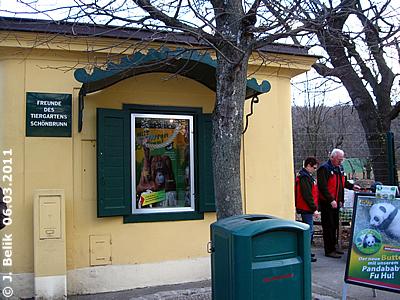 Kiosk der Freunde des Tiergarten Schönbrunn, 6. März 2011