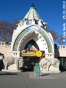 Haupttor, Zoo Budapest, 25. Jänner 2012