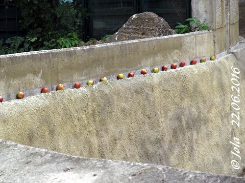 Badebecken Äpfel