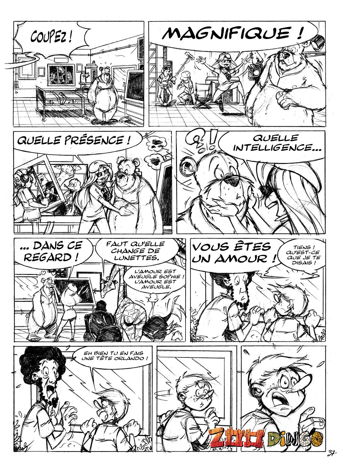"""Relativ Les planches BD ZOO DINGO """"Bêtes de scène"""" par Beno et Neymo EC26"""