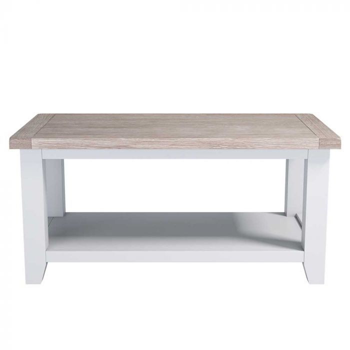 beach house coffee table with shelf