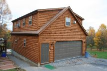 Log Cabin Garage with Apartment