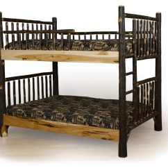 Hickory Chair Furniture Beds Fabric Twin Sleeper Bed Bedroom Rustic Wood