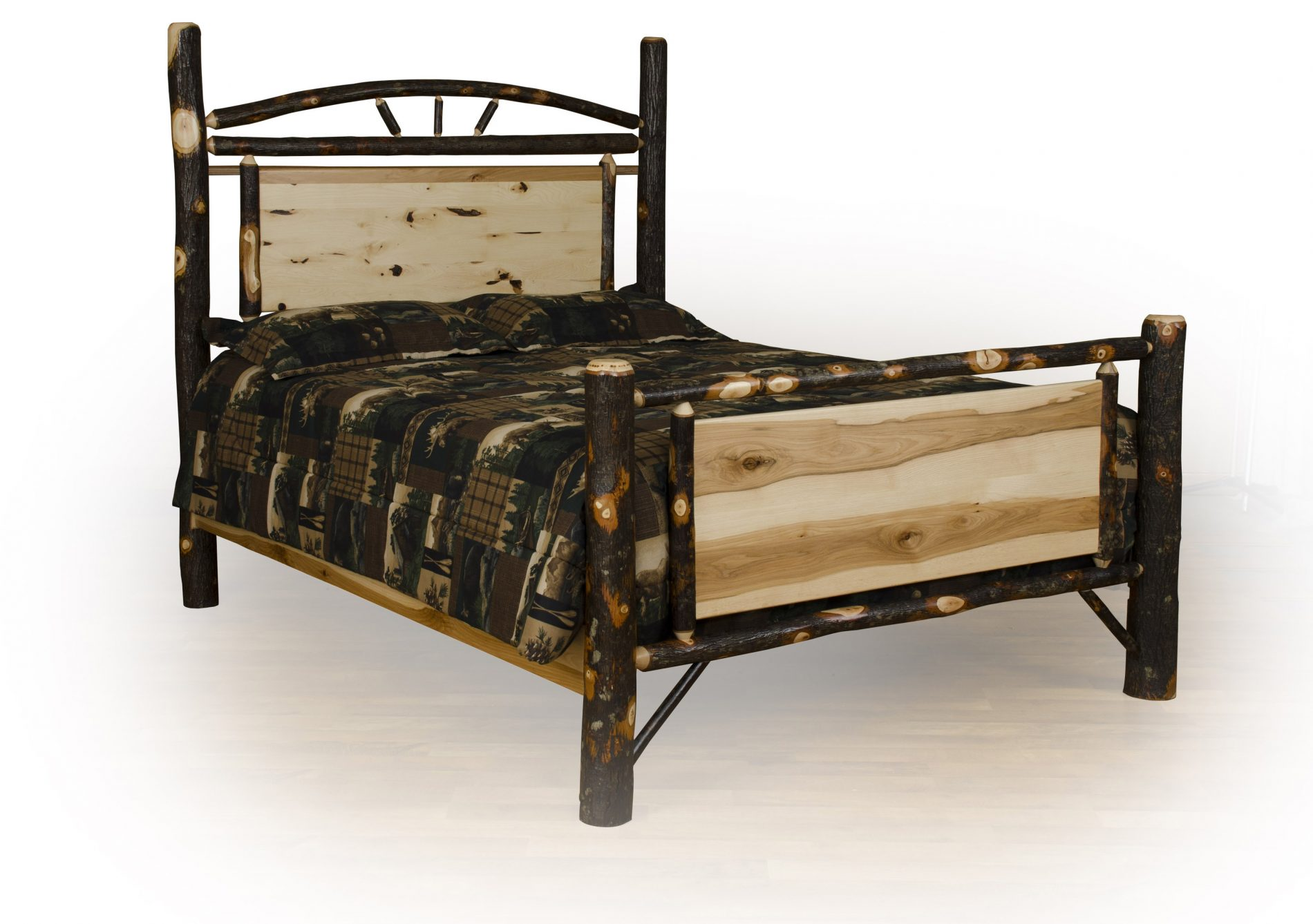 hickory chair bedside tables custom ergonomic bedroom furniture rustic wood
