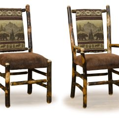 Rustic Dining Room Chairs Crate And Barrell Hickory Furniture