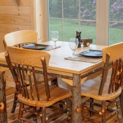 Hickory Dining Room Chairs Kitchen On Casters Furniture Rustic