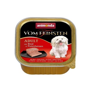 Пастет VOM FEINSTEN ADULT BEEF AND POULTRY HEARTS за кучета над 12 м, 150 g