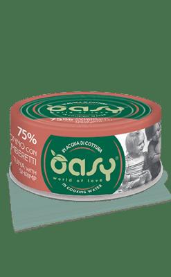 Oasy - Umido Cat More Love - Tonno con Gamberetti. 70gr