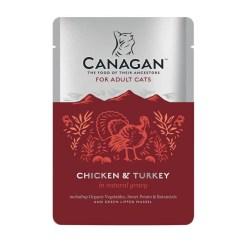 Canagan – Cat buste Chicken with Turkey Pollo + Tacchino. 85gr