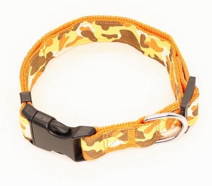 Dog Collar - Collare cane giallo. Taglia M regolabile