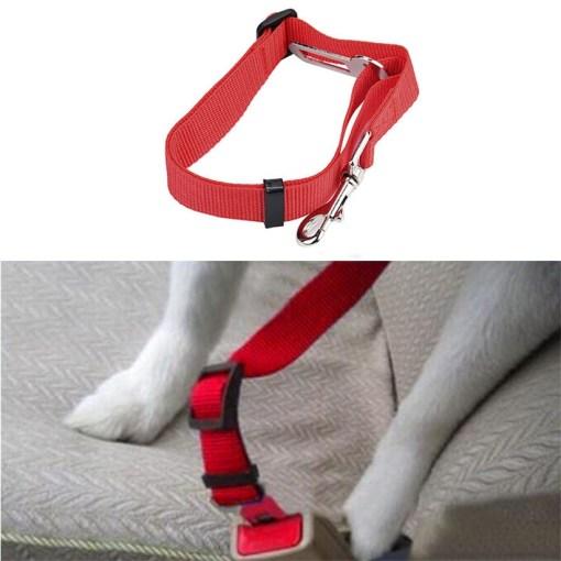 Cintura di Sicurezza Cane per auto. Rosso 42-68 cm