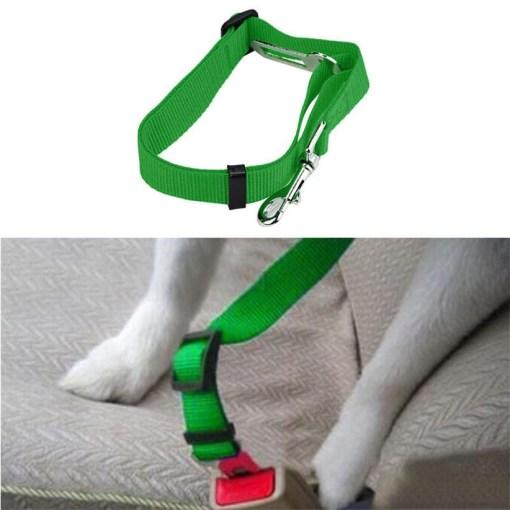 Cintura di Sicurezza Cane per auto. Verde 42-68 cm