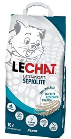 Lechat - Lettiera sepiolite naturale per gatti. 10litri