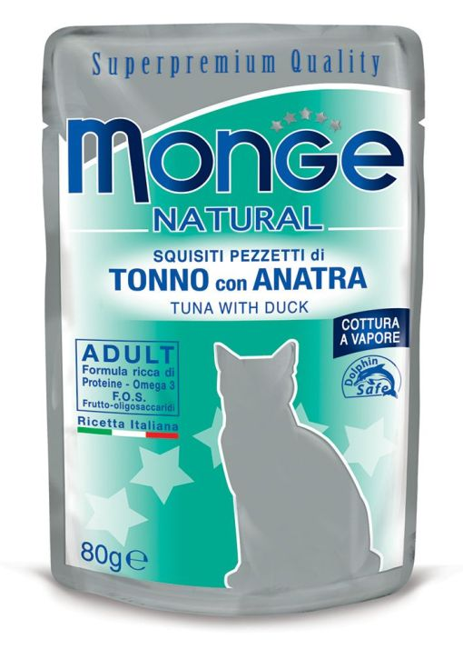 Monge - Cat Buste Natural Tonno Anatra 80gr