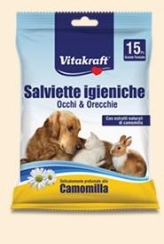 Vitakraft - Salviette Igieniche Occhi Orecchie. 15pz