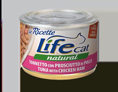 Life Cat Ricette - Umido Tonno Prosciutto. 150gr
