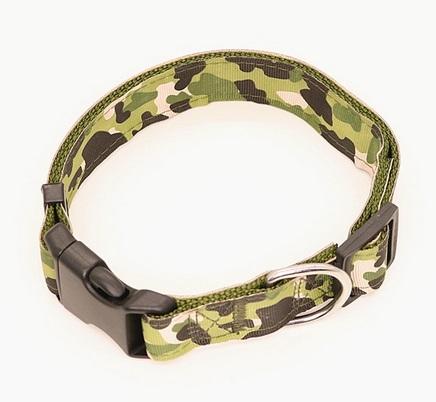 Dog Collar - Collare cane verde. Taglia M regolabile