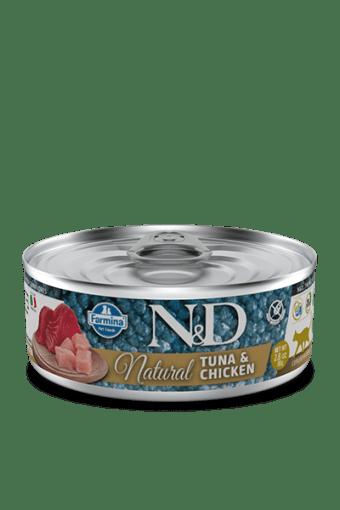 Farmina - N&D Umido Cat Natural Tonno e Pollo. 80gr