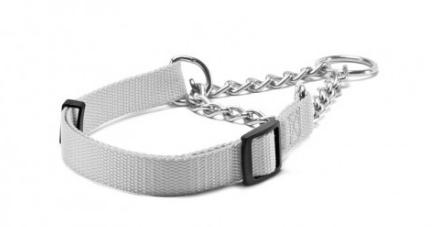 Record – Collare Nylon Semi Strozzo grigio. 1,9cm