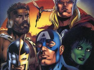 Avengers – Wasp, Thor, She Hulk, Captain America, Black Knight, Hercules