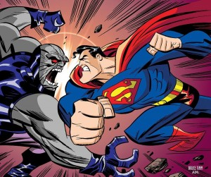 Bruce Timm – Superman And Darkseid