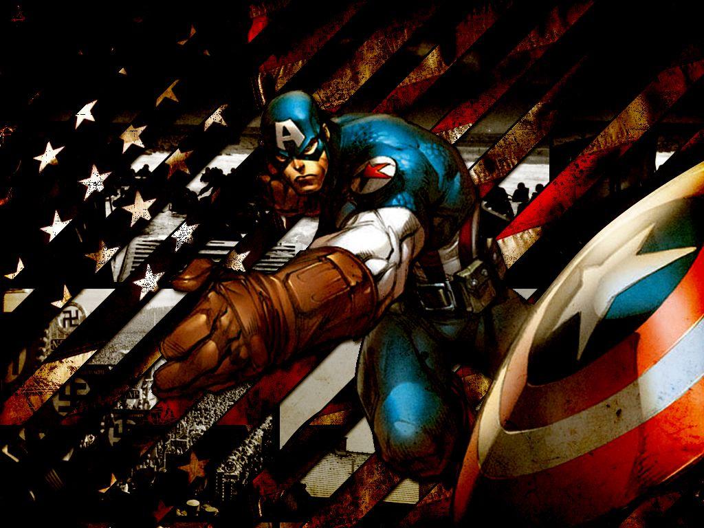 Captain America Throwing His Shield Zoom Comics