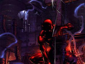 Daredevil Draped over a cross