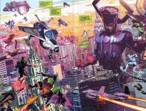 Galactus Vs Marvel Heroes