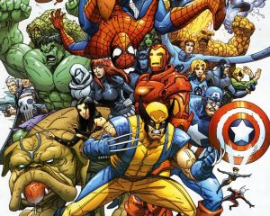 Marvel Hero group shot