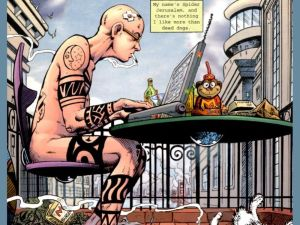 spider jerusalem – nude and typing