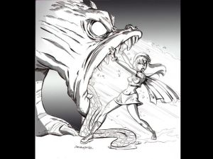 supergirl vs dragon