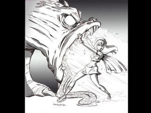 supergirl vs dragon