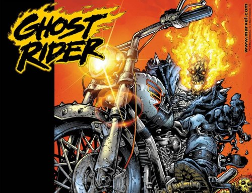 Ghost Rider with skull