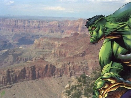 Hulk over canyon