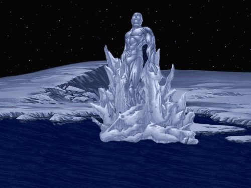 Iceman over water