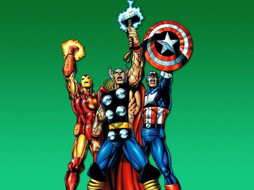 Iron man, Thor, Captain America