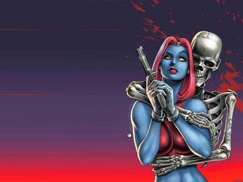 Mystique And Skeleton