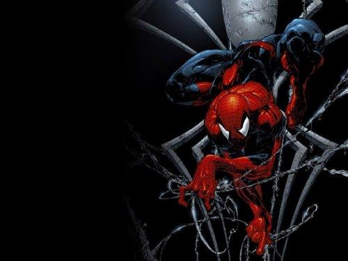 Spider-man  lies in wait