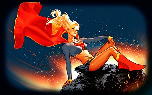 Supergirl On An Astroid