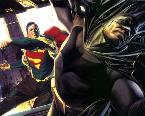 Superman Punches Batman